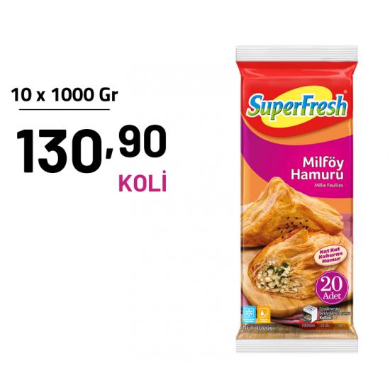 SUPERFRESH 1KG MİLFÖY HAMURU