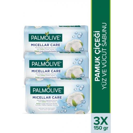 Palmolive Micellar Care Pamuk Çiçeği Yüz Ve Vücut Sabunu 3 X 150 gr