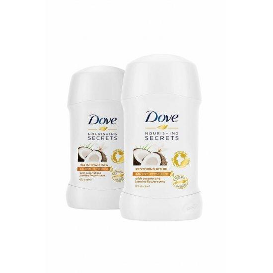 Dove Kadın Deodorant Hindistan Cevizi Stick 40 ml x 2